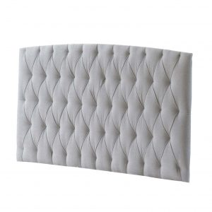 Allegra Diamond Tufted Upholstered Headboard Panel - White