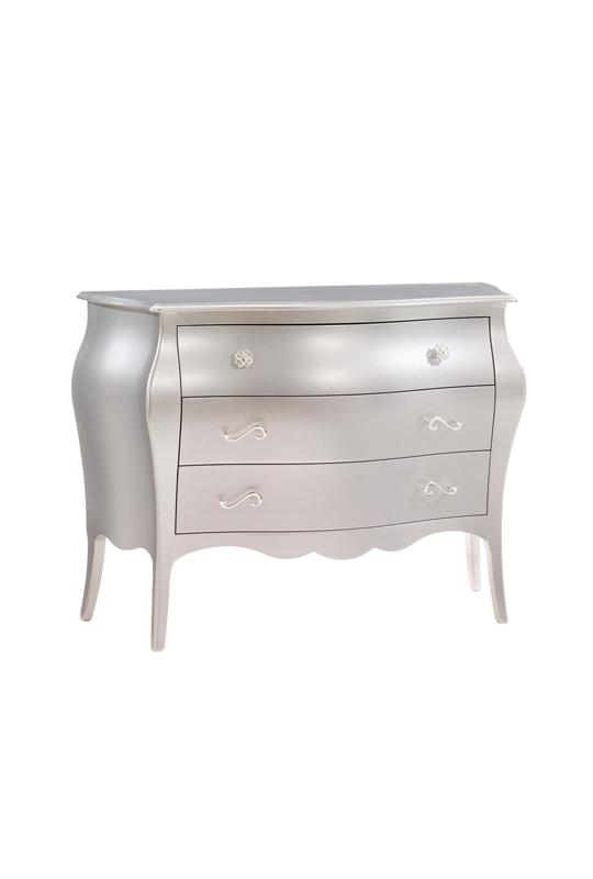 Alexa Silver 3 drawer dresser