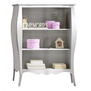 Alexa silver bookcase