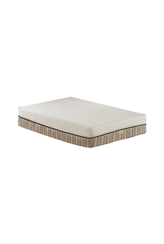 essentia mattress for baby crib with striped detailing pattern