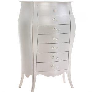 Alexa classic white lingerie chest