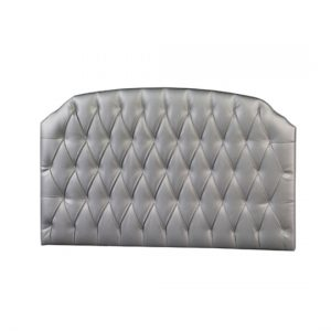 silver diamond tufted headboard panel
