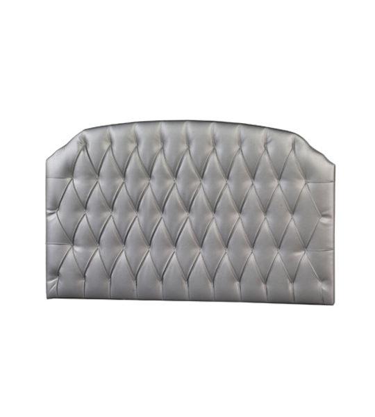 silver diamond tufted headboard panel