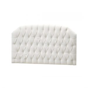 allegra white headboard panel