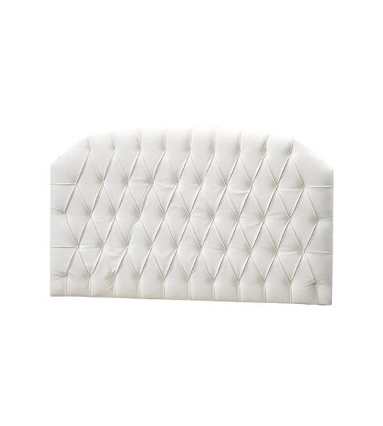 allegra white headboard panel