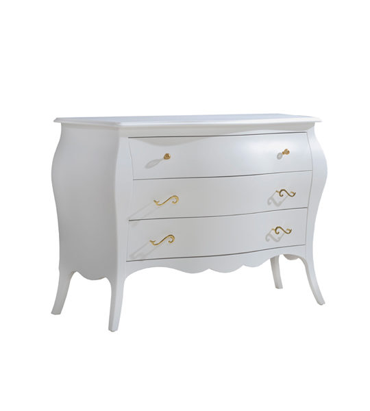 Allegra Gold 3 Drawer Dresser