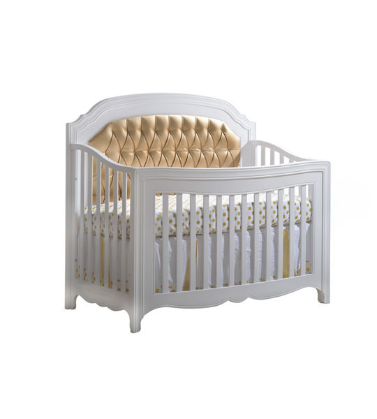 Allegra Gold Quot 5 In 1 Quot Convertible Crib With Gold Diamond Tufted Upholstered Headboard Panel