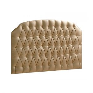 Allegra Gold Upholstered Headboard Panel (Diamond Tufted)