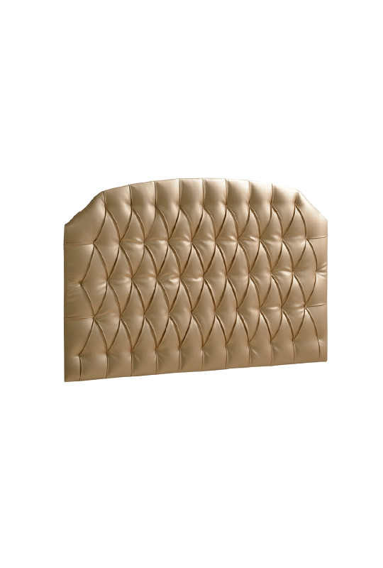 Bella Gold Upholstered Headboard Panel Diamond Tufted