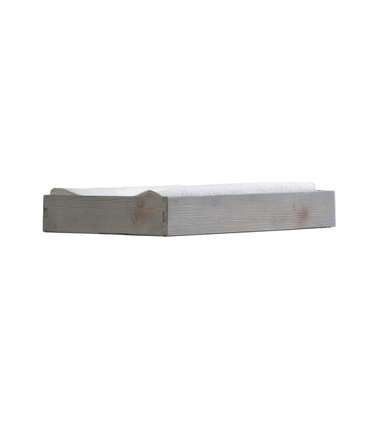 Grey wooden changing tray