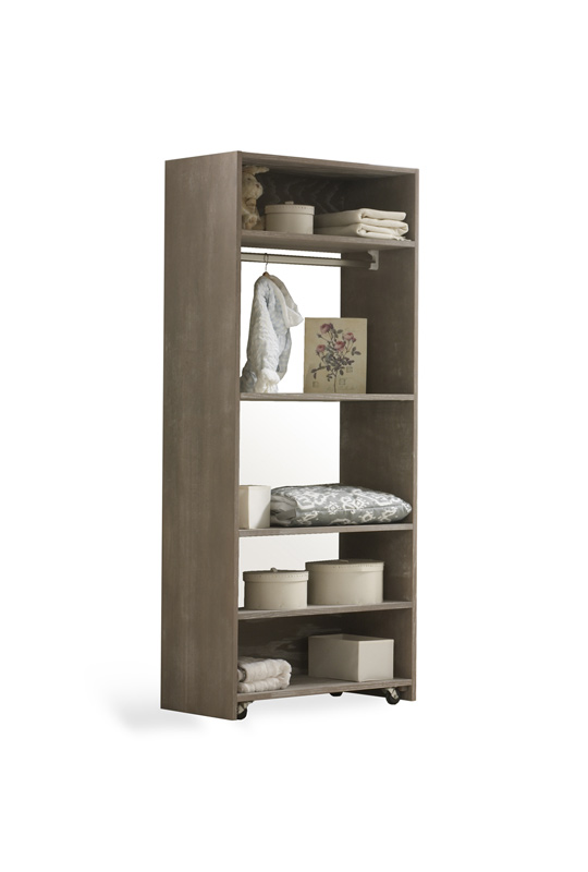 UnMess Wooden Convertible Wardrobe System (Oak)