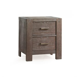 Rustico Dark wood 2 drawer Nightstand