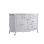 Bella Gold white Double Dresser with gold knobs