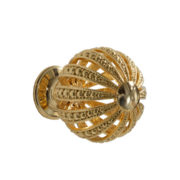 Gold plated knob with Swarovski crystal inlay by Giusti