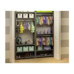 Striped walls with open Wardrobe/Closet organization System