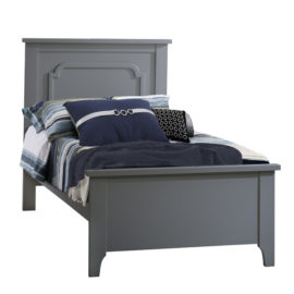 "Classic wooden Twin Bed 39"" in grey"