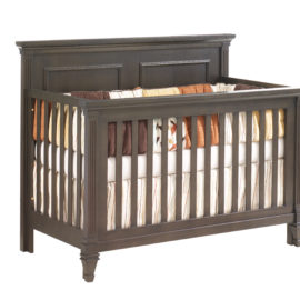 """Belmont """"5-in-1"""" dark brown wooden Convertible Crib"""