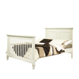 "Belmont Double Bed 54"" in french white"