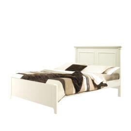 "Belmont french white Double Bed 54"" wth a low profile footboard"