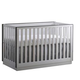 "Sevilla ""4-in-1"" white Convertible Crib with black edges"