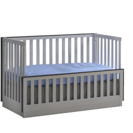 """Sevilla """"4-in-1"""" white Convertible Crib turned into a daybed"""