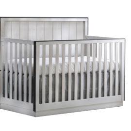 """Valencia """"5-in-1"""" light, white Convertible Crib"""