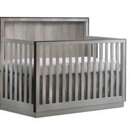 "Valencia ""5-in-1"" Grey wooden Convertible Crib"