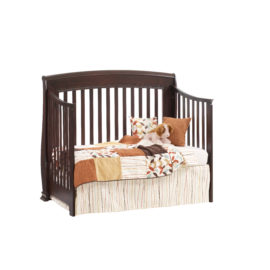 """Bella """"5-in-1"""" Dark brown wood Convertible Crib - converted into a daybed"""
