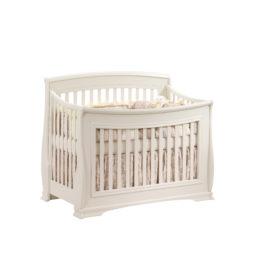 """Bella """"5-in-1"""" White Convertible Crib"""