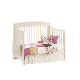 "Bella ""5-in-1"" White Convertible Crib - converted into a daybed"