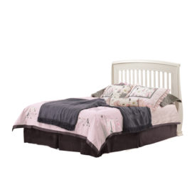 "Bella ""5-in-1""White Convertible Crib - converted into a double bed headboard"