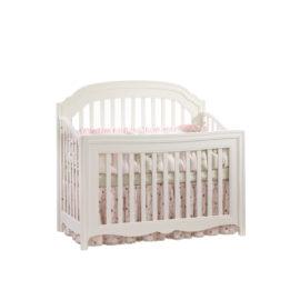 "Allegra ""5-in-1"" White Convertible Crib"