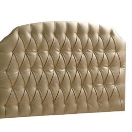 Allegra Gold Upholstered Headboard Panel (Diamond Tufted)