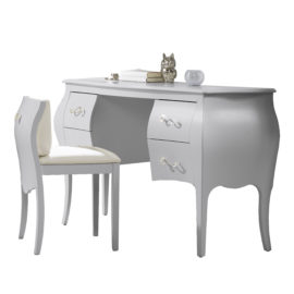 Alexa Desk/Vanity with pull out chair