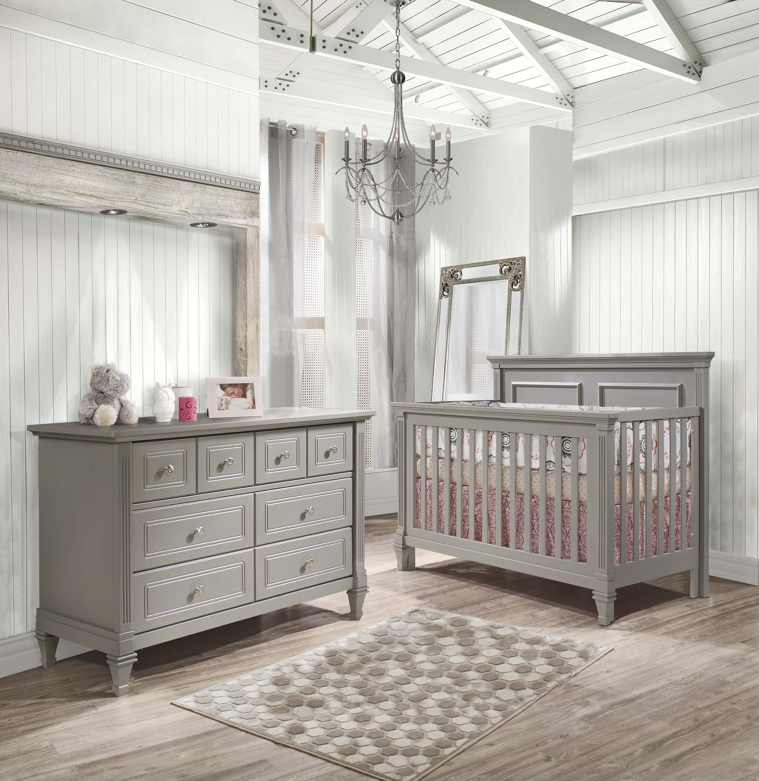 Belmont Collection   Baby Room In Stone Grey (no Panel)