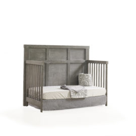 "Rustico ""5-in-1"" Grey wooden Convertible Crib turned to a daybed"
