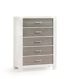 Rustico Moderno White 5 Drawer Dresser