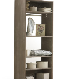 UnMess Convertible Dark Brown wooden Wardrobe System