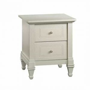 French white classic nightstand with two drawers