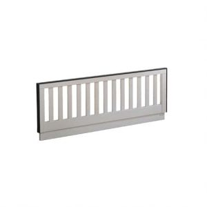 "Low profile Footboard 54"" in white with black sides"