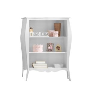 Allegra Gold White 3 shelf Bookcase