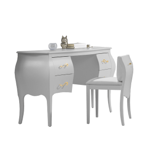 Allegra Gold Desk-Vanity