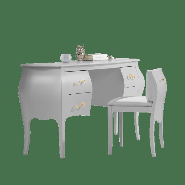 Allegra Gold Desk-Vanity