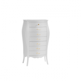 Allegra Gold white Lingerie Chest with gold knobs