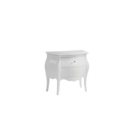 Allegra Gold White Nightstand with gold knobs