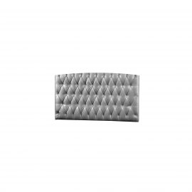 Upholstered Headboard Panel (Diamond Tufted) - Silver