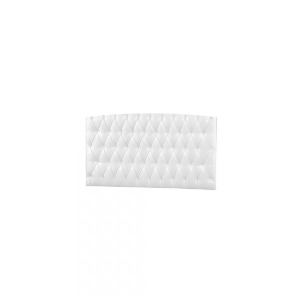 Upholstered Headboard Panel (Diamond Tufted) - White
