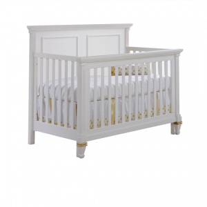 "Belmont Gold ""5-in-1"" white Convertible Crib"