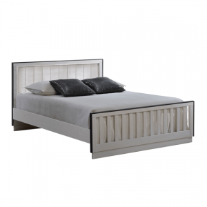Valencia white wooden double bed