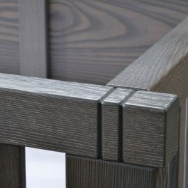 Close up view of Mortise & Tenon Joinery (crib)